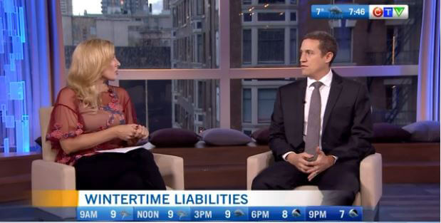 "Preszler Law Featured on CTV Vancouver ""Ask An Expert"" Wintertime Liabilities"